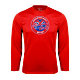 Performance Red Longsleeve Shirt-Swim and Dive Design