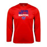 Performance Red Longsleeve Shirt-Game Set Match