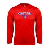 Performance Red Longsleeve Shirt-Track and Field Design