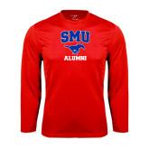 Syntrel Performance Red Longsleeve Shirt-Alumni