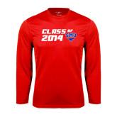 Performance Red Longsleeve Shirt-SMU Class of Design