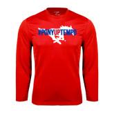 Syntrel Performance Red Longsleeve Shirt-#PonyUpTempo Flat