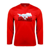 Performance Red Longsleeve Shirt-#PonyUpTempo Lock Arms