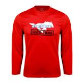 Syntrel Performance Red Longsleeve Shirt-#PonyUpTempo Lock Arms