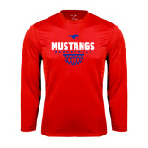 Syntrel Performance Red Longsleeve Shirt-Mustangs Basketball Net Icon