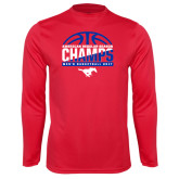 Performance Red Longsleeve Shirt-2017 AAC Regular Season Champs - Mens Basketball Half Ball