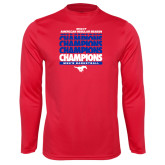 Performance Red Longsleeve Shirt-2017 AAC Regular Season Champions Repeating - Mens Basketball