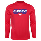 Performance Red Longsleeve Shirt-2017 AAC Regular Season Champions - Mens Basketball Stencil