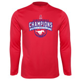 Performance Red Longsleeve Shirt-2017 AAC Conference Champions - Mens Basketball Arched Banner