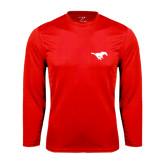 Syntrel Performance Red Longsleeve Shirt-Official Logo