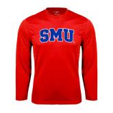 Syntrel Performance Red Longsleeve Shirt-Block SMU