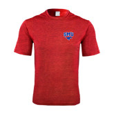Performance Red Heather Contender Tee-SMU w/Mustang