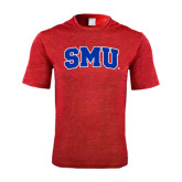 Performance Red Heather Contender Tee-Block SMU