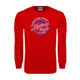 Red Long Sleeve T Shirt-Mustang Pride