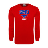 Red Long Sleeve T Shirt-Golf