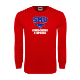 Red Long Sleeve T Shirt-Swimming and Diving