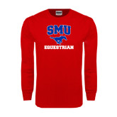 Red Long Sleeve T Shirt-Equestrian
