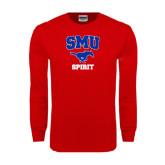 Red Long Sleeve T Shirt-Spirit