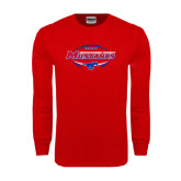 Red Long Sleeve T Shirt-Mustangs in Football