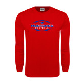 Red Long Sleeve T Shirt-Athletic Mustangs in Football
