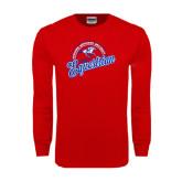 Red Long Sleeve T Shirt-Script Equestrian