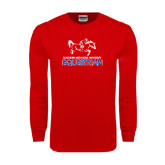 Red Long Sleeve T Shirt-Equestrian Design