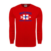 Red Long Sleeve T Shirt-Cross Country Design