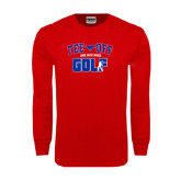 Red Long Sleeve T Shirt-Tee Off Design