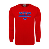 Red Long Sleeve T Shirt-Rowing Profile Design