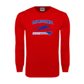 Red Long Sleeve T Shirt-Rowing Design