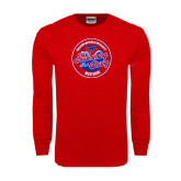 Red Long Sleeve T Shirt-Swim and Dive Design