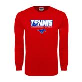 Red Long Sleeve T Shirt-Tennis Design