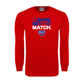 Red Long Sleeve T Shirt-Game Set Match