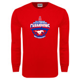 Red Long Sleeve T Shirt-2017 AAC Conference Champions - Mens Basketball Arched Shadow