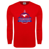 Red Long Sleeve T Shirt-2017 AAC Conference Champions - Mens Basketball Banners