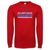 Red Long Sleeve T Shirt-2017 Mens Soccer Champs