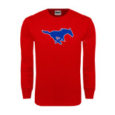 Red Long Sleeve T Shirt-Official Outlined Logo