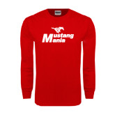 Red Long Sleeve T Shirt-Mustang Mania
