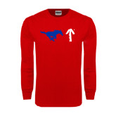 Red Long Sleeve T Shirt-Pony Up