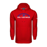 Under Armour Red Performance Sweats Team Hood-Arched Football Design