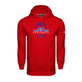 Under Armour Red Performance Sweats Team Hood-Tall Football Design