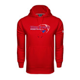 Under Armour Red Performance Sweats Team Hoodie-Football Outline Design