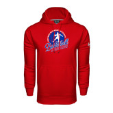 Under Armour Red Performance Sweats Team Hoodie-Player on Basketball Design
