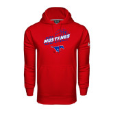 Under Armour Red Performance Sweats Team Hoodie-Angled Basketball Design