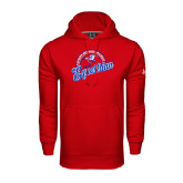 Under Armour Red Performance Sweats Team Hoodie-Script Equestrian