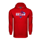 Under Armour Red Performance Sweats Team Hood-Soccer Swoosh