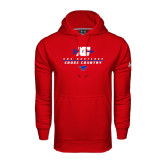 Under Armour Red Performance Sweats Team Hood-Stacked Cross Country Design