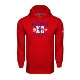 Under Armour Red Performance Sweats Team Hood-Cross Country Design