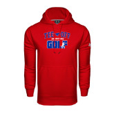 Under Armour Red Performance Sweats Team Hood-Tee Off Design