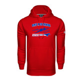 Under Armour Red Performance Sweats Team Hood-Rowing Design